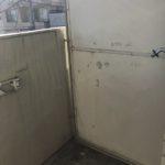 バルコニーの洗濯機置場