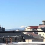 リビングのバルコニーから富士山が望めます。